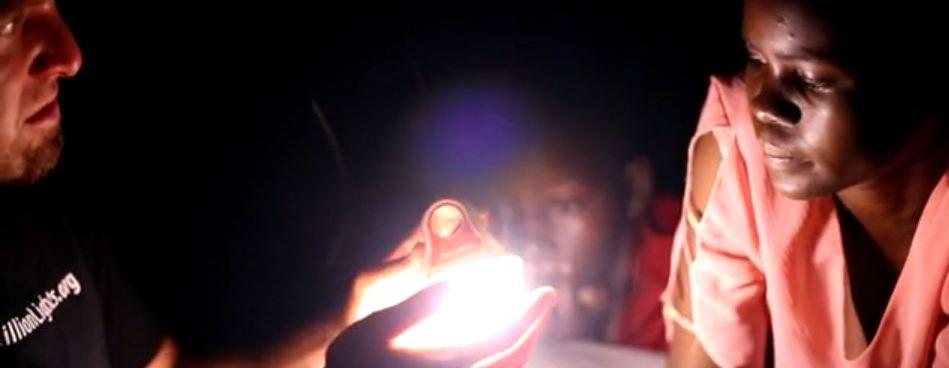 showing light in Kenya